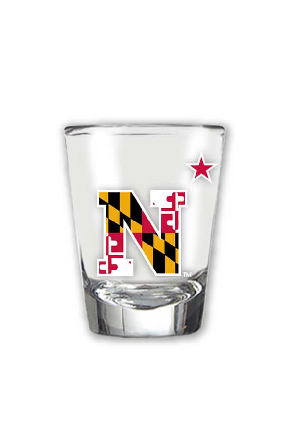 USNA MD Flag N-Star Shot Glass - Annapolis Gear
