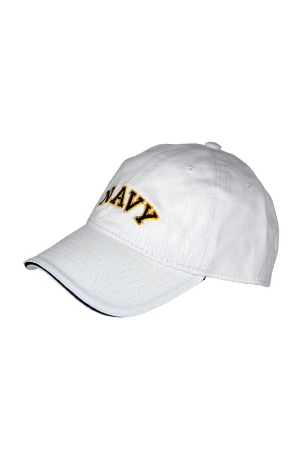NAVY Arch Hat (white) - Annapolis Gear