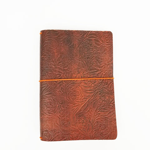 Vintage leather journal Wide