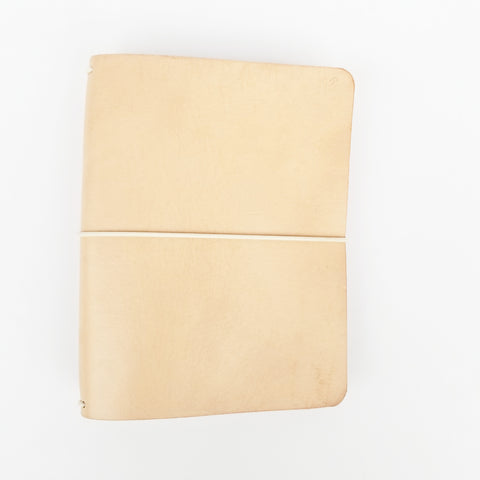 Bare leather journal B6