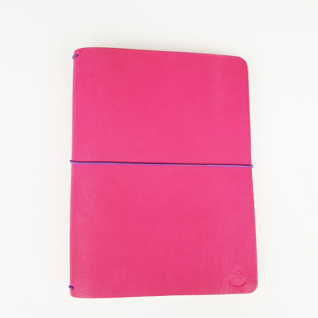 Hot pink with embossed anchor  A5