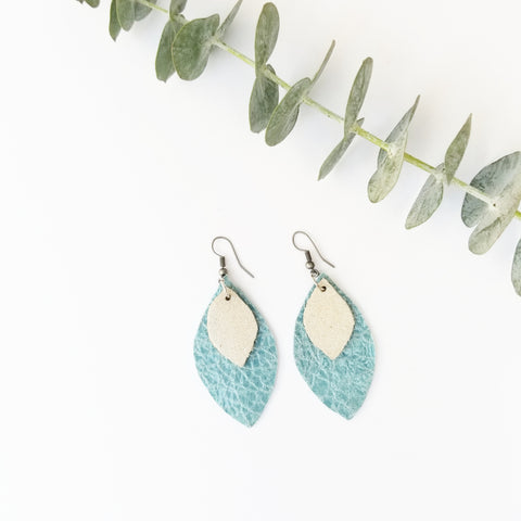Ocean beach drop earrings