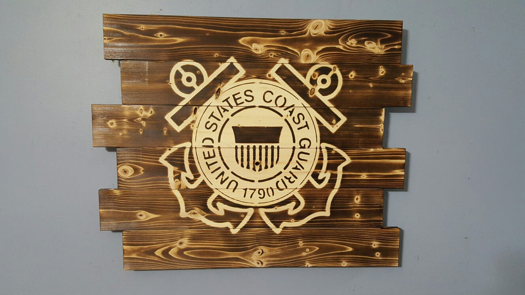 United States Wall Art united states coast guard wall art – carolina pallet designs