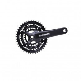SRAM S600 Chainset - 3x9spd PowerSpline 175mm Blast Black 44-32-22t