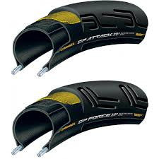 Grand Prix Attack and Force II set - Front and Rear Black Chili Tyres