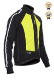 Lusso Windtex Aero+ Thermal Jacket – Black/Flo Yellow