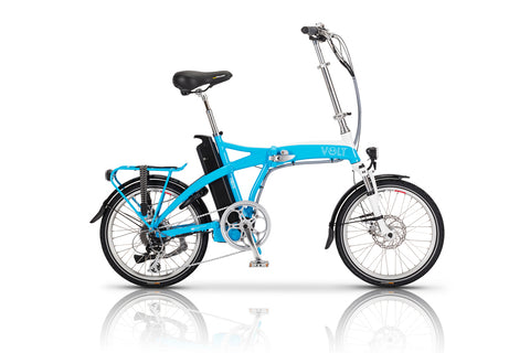 Volt Metro Blue Folding Electric Bike