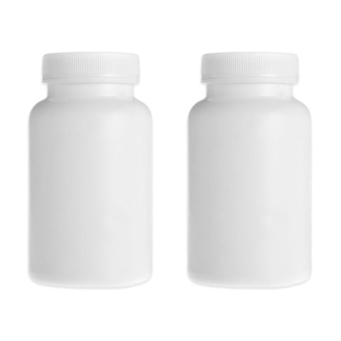 Empty White Capsule Bottle