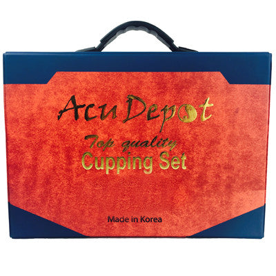 Acudepot 17 pcs Plastic Cupping Set with Magnets and Carrying Case