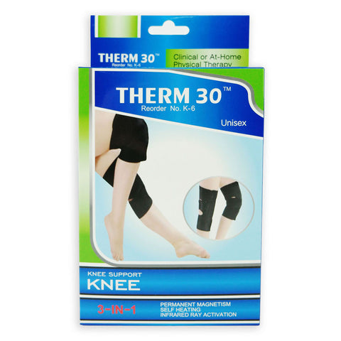 THERM30 - Knee Brace / Support, 3-in-1 (Magnets, Infrared & Self Heating)