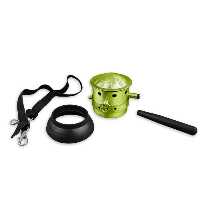 Fire Dragon Brass Moxa Burner with Strap and Handle