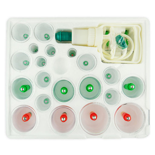 Kangci Complete 24 pcs Plastic Cupping Set with Magnets