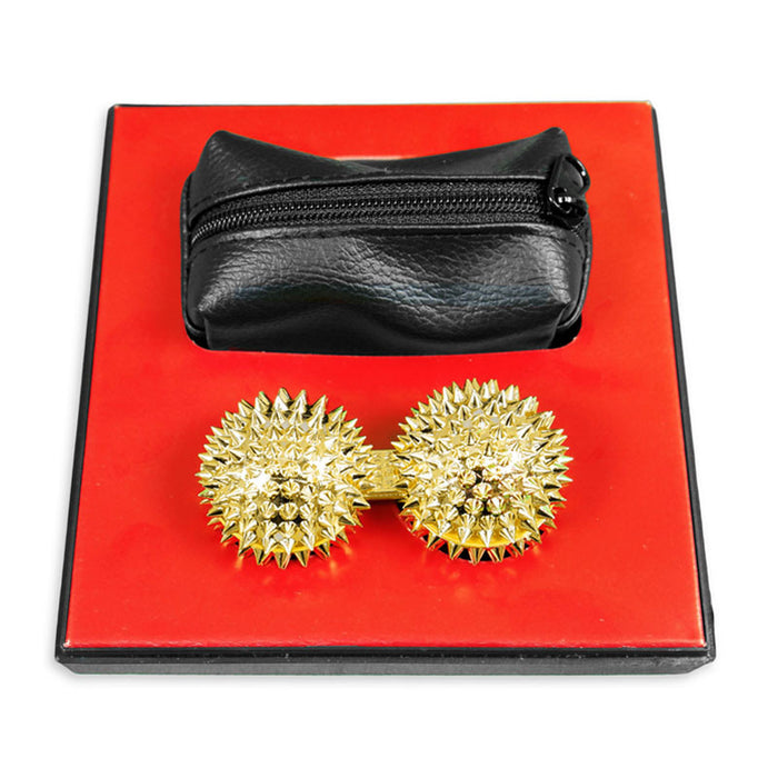 24K Gold Coated Spiked Balls
