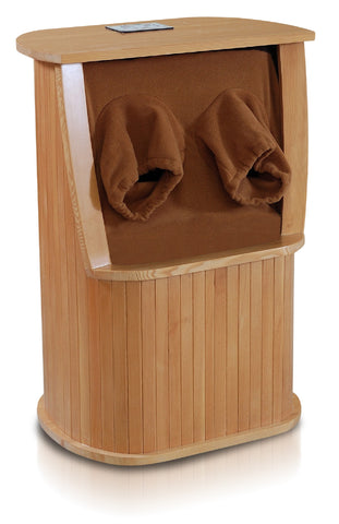 Solid Wood Infrared Foot Sauna with Mineral Beads