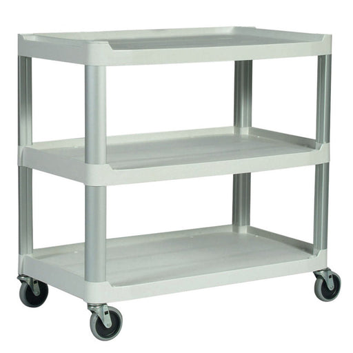 Plastic 3-Shelf Utility Cart with Wheels