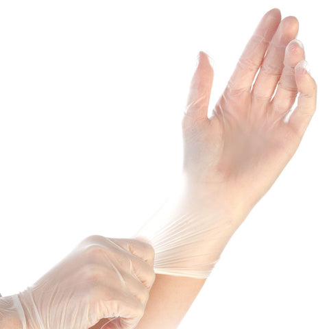 Disposable Vinyl Gloves (100 Gloves/Box)