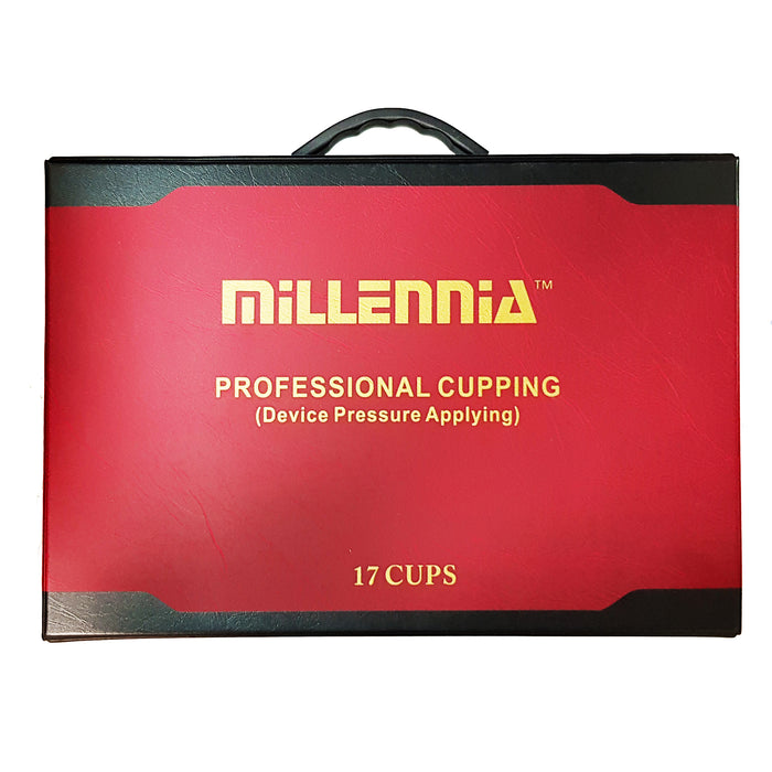 Millennia Brand 17 pcs Cupping Set with Magnets and Carrying Case