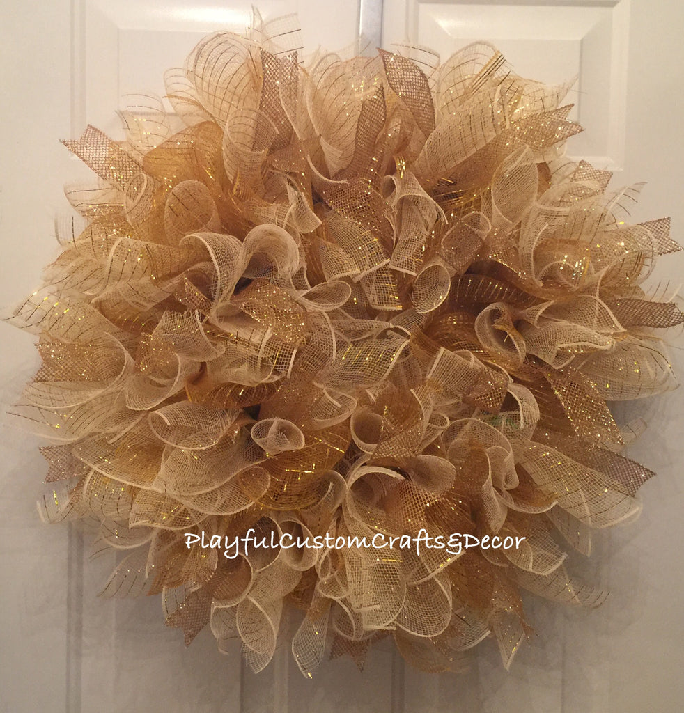 Gold Christmas Wreath