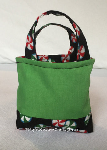 Green Peppermint Candy Tiny Tote