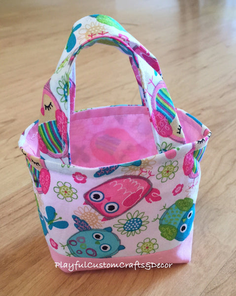 Pink Owl Tiny Tote