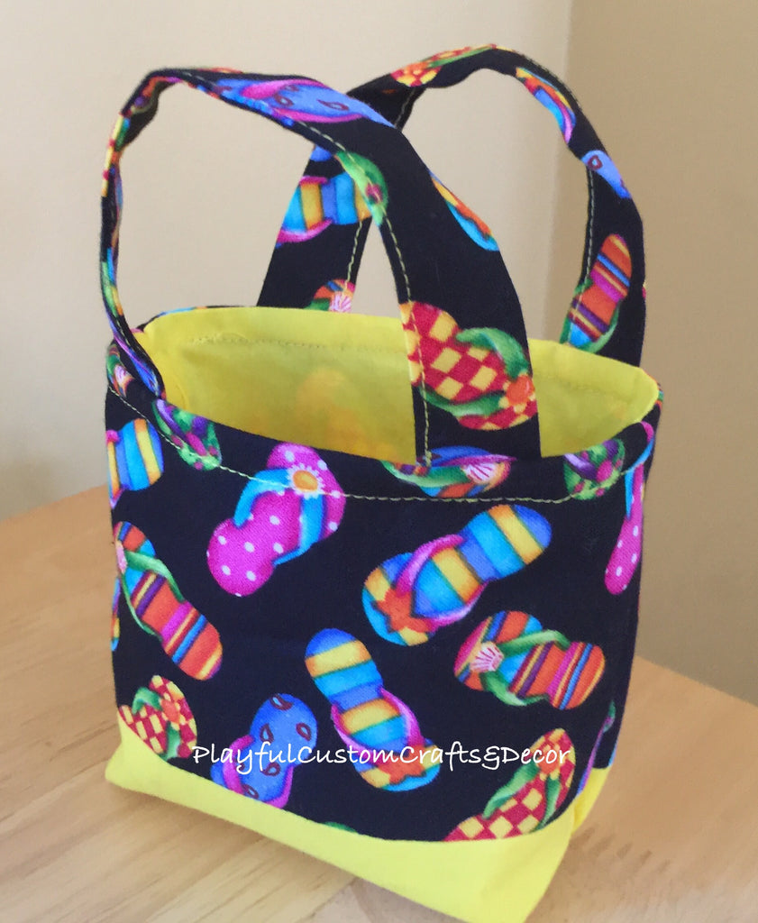 Yellow Flip Flop Tiny Tote