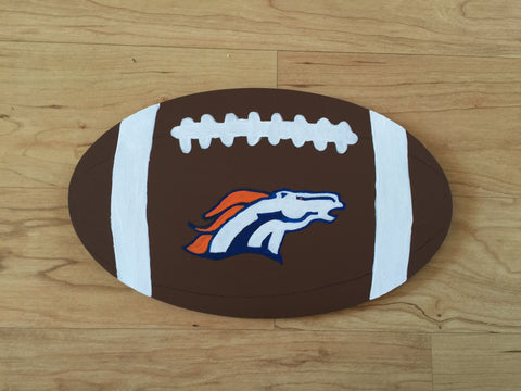 Denver Broncos Football Sign
