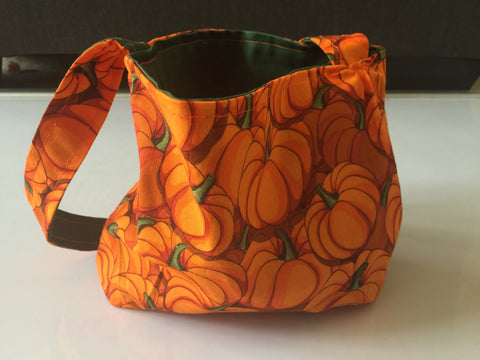 Pumpkin & Green Reversible Small Bag