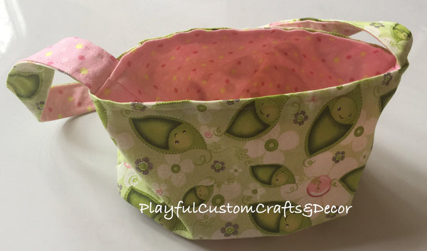 Pink Polka Dot Reversible Small Bag