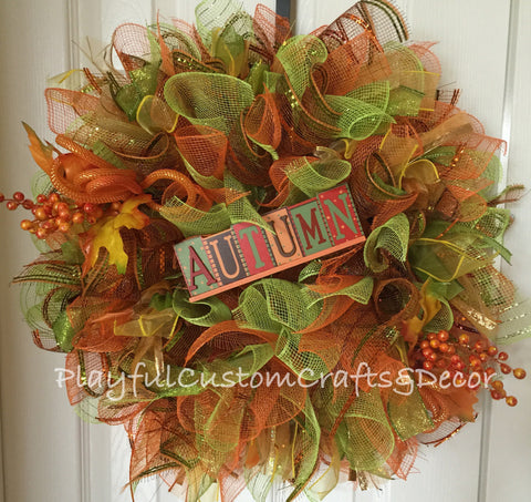 Autumn Wreath---SOLD