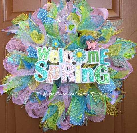 Welcome Spring Wreath