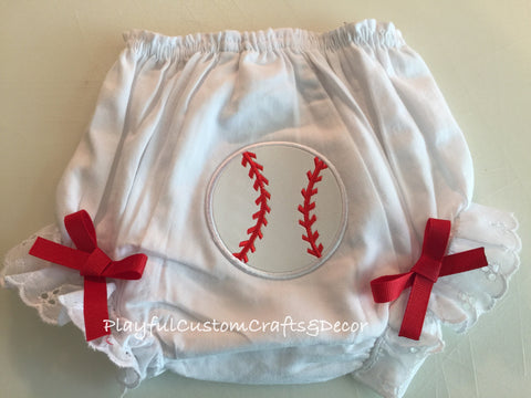 Baseball Baby Bloomers