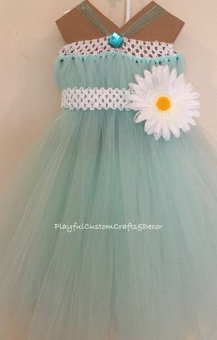 Sea Foam Tutu Dress
