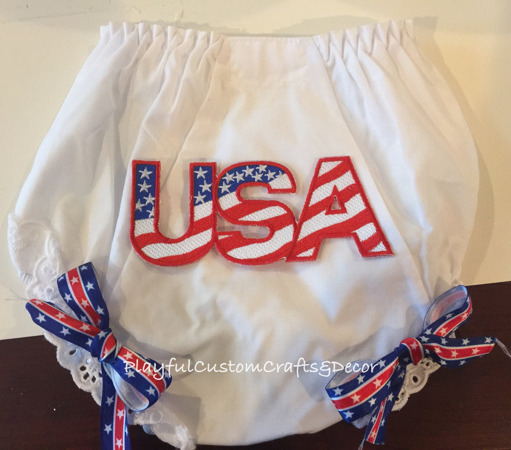 USA Patriotic Baby Bloomers