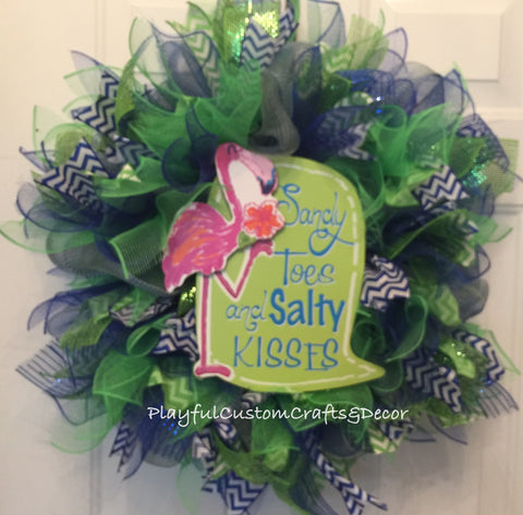 Sandy Toes and Salty Kisses Wreath