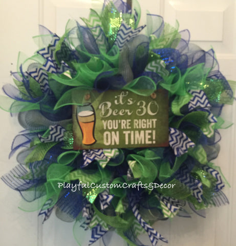 It's Beer Thirty Wreath