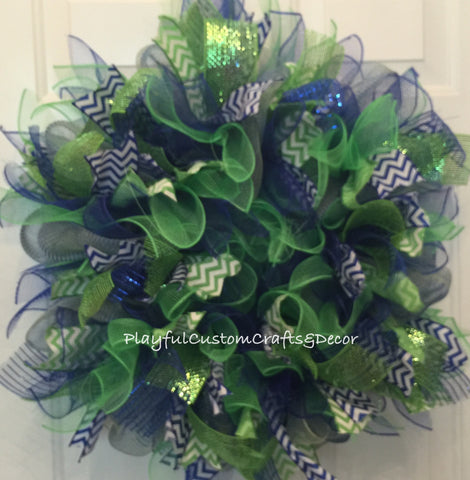 Cool Colors Wreath