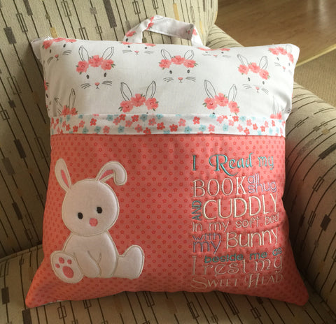 Bunny Reading Pillow Case