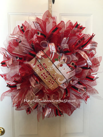 Santa Christmas Wreath