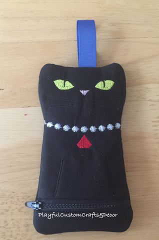 Black Cat Zipper Pouch