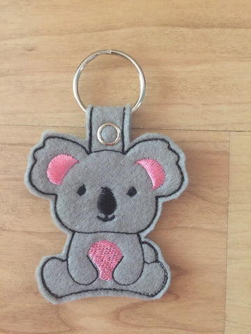 Handmade Embroidered Felt Kola Bear Key Chain