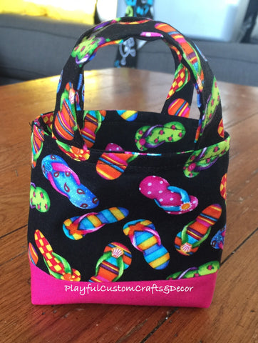Hot Pink Flip Flop Tiny Tote