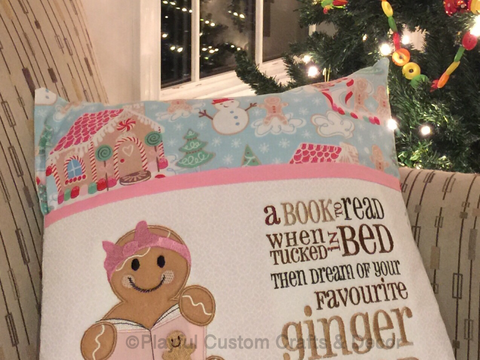 Gingerbread Girl Decorative Reading Pillow Case