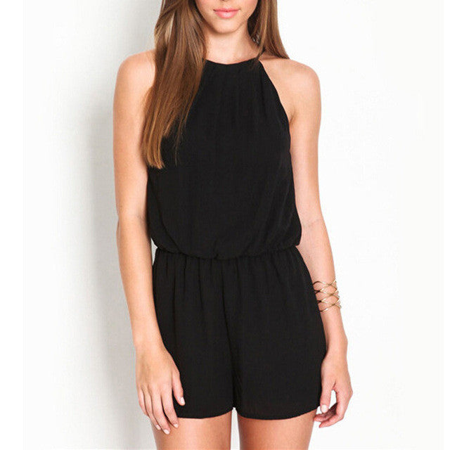 Sleeveless Halter Romper