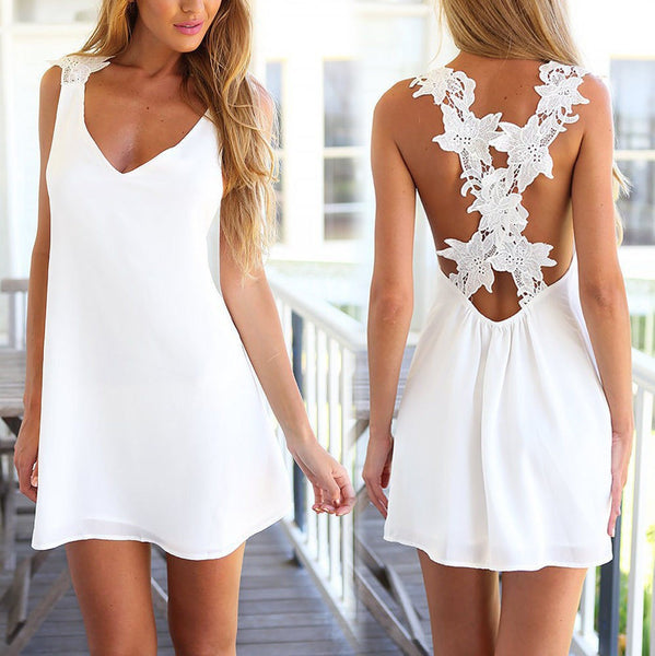 Summer Lace Crochet Sundress
