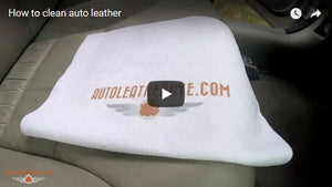 How to clean auto leather with DyeNamic Clean prep cleaner