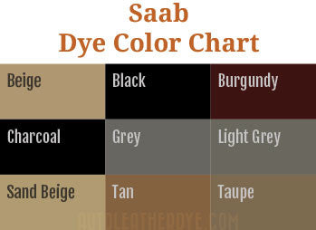 Saab Leather Dye Color Chart