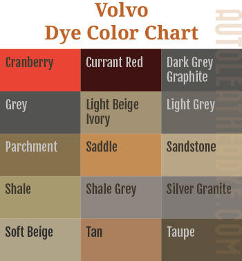 Volvo Leather Dye Color Chart