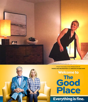"Sky Whitman painting featured on NBC comedy series ""The Good Place"" airing 9/2016"