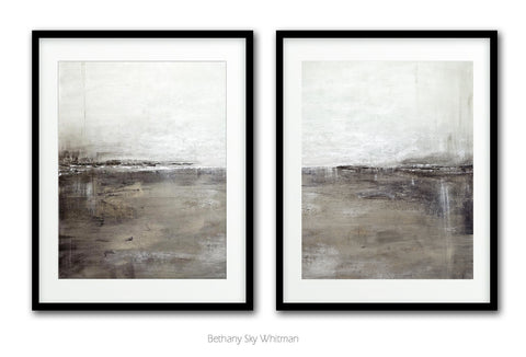 The Pathway digital downloadable prints set of two diptych