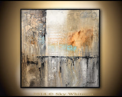 rustic textured high gloss abstract painting bethany sky whitman signature diepte kleur style fine art